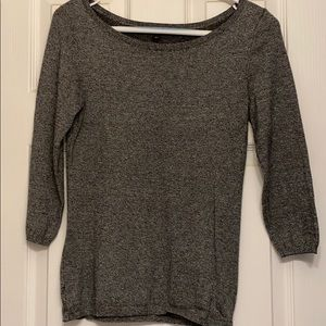 Express Women Grey 3/4 Sleeve Sweater